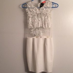 NWT White Lace Mini Dress